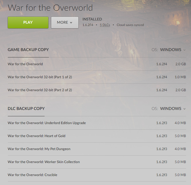 Black screen on startup Win7 (GOG) / War for the Overworld Форум