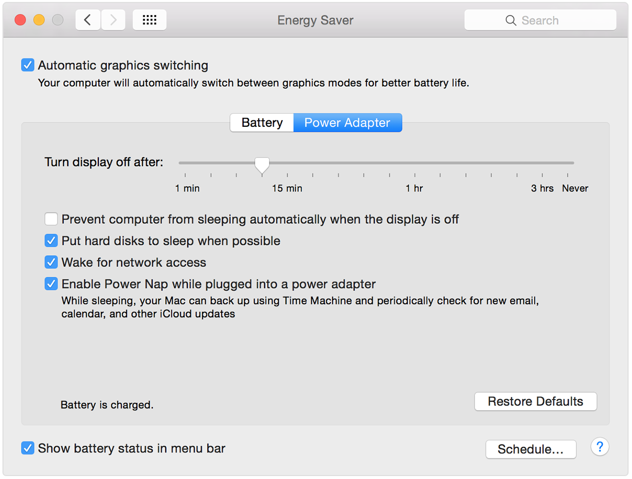 Osx Has Its Own Graphics Switching Option In The 'energy Saver' Tool In The  Settings Dialogue Unchecking This Allows The Game To Run
